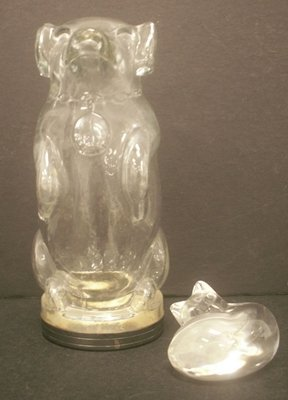 LOT (2) INCLUDING STEUBEN CRYSTAL CAT, SIGNED