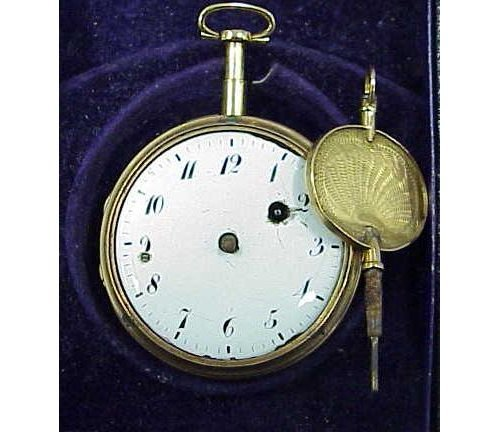 5: G.JOLLY PARIS GOLD REPEATER POCKETWATCH