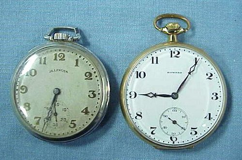 6: LOT (2) OPEN-FACE POCKET WATCHES