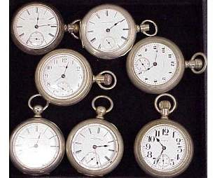LOT (7) ASSORTED VINTAGE POCKET WATCHES