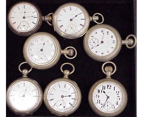9: LOT (7) ASSORTED VINTAGE POCKET WATCHES