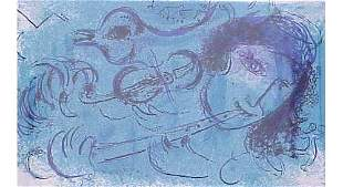 """LITHOGRAPH """"FLUTE PLAYER"""" MARC CHAGALL"""