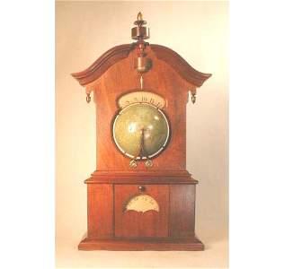 206: TIMBY WALNUT SOLAR CLOCK, C.1863