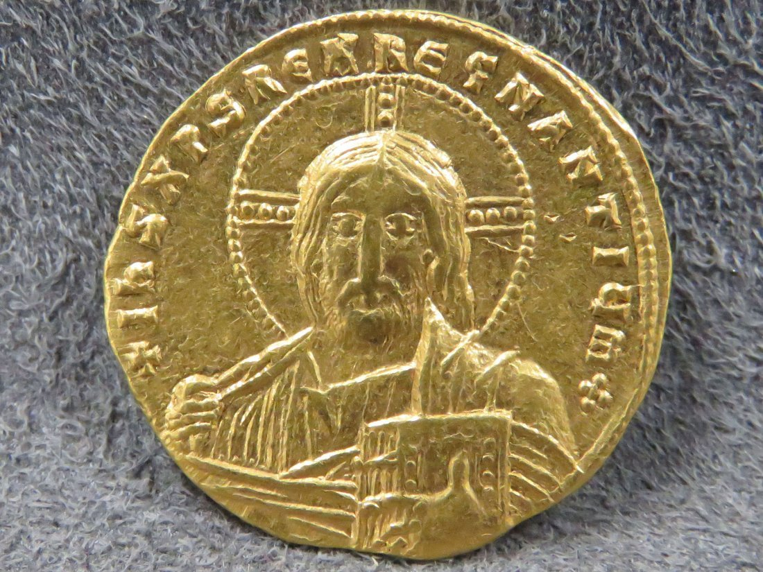 ROMAN GOLD COIN CONSTANTINE VII WITH ROMANUS I