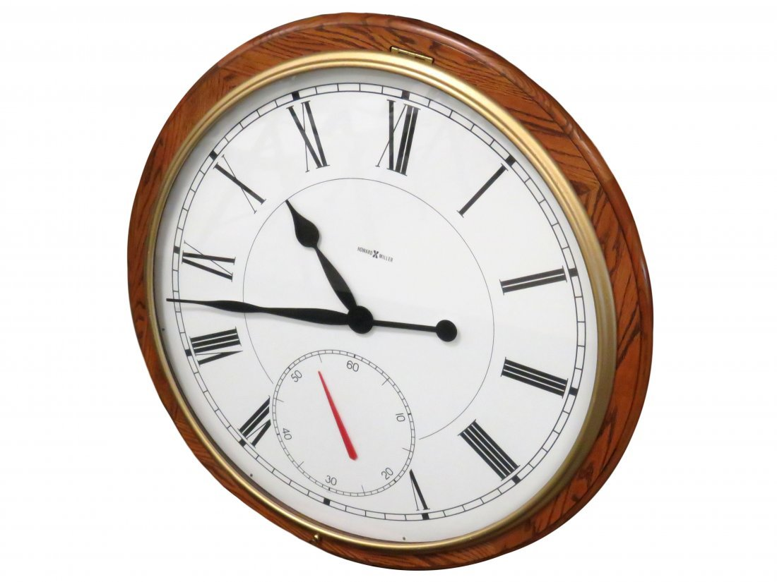 HOWARD MILLER #622-525 OAK ELECTRIC WALL CLOCK