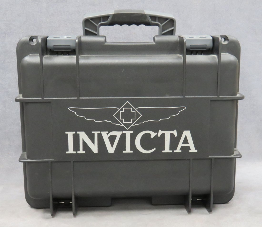 LOT (3) INCLUDING INVICTA WATCHES, CASE - 2