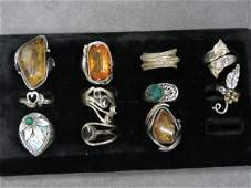 LOT 11 STERLING  SILVER RINGS