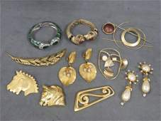 LOT ASSORTED COSTUME JEWELRY INCLUDING ROBERT ROSE