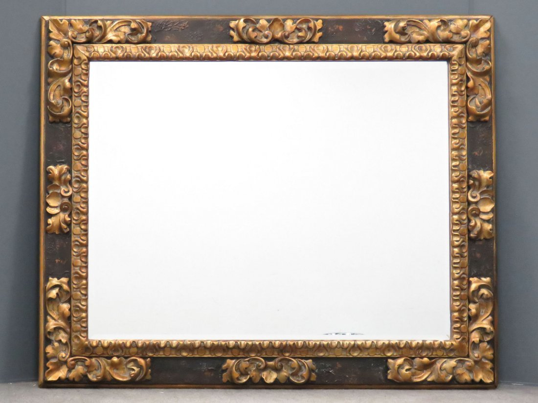 RALPH LAUREN/POLO CARVED AND GILT FRAMED MIRROR