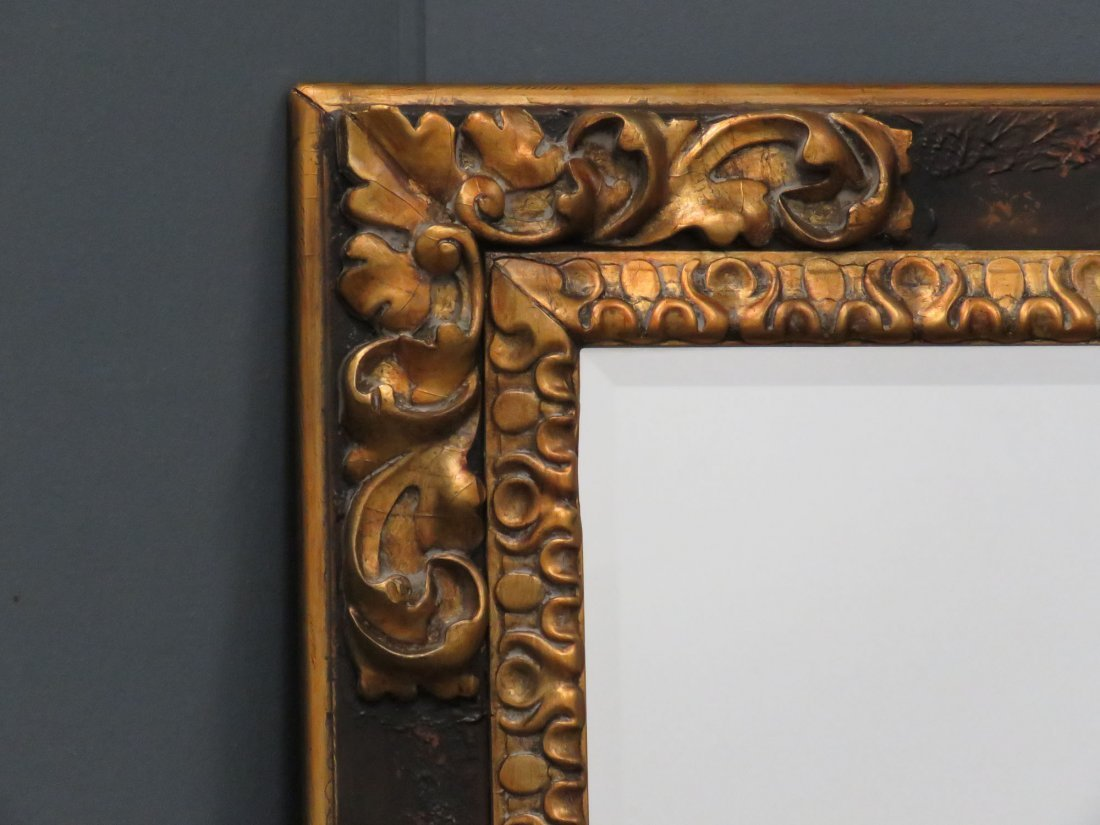 RALPH LAUREN/POLO CARVED AND GILT FRAMED MIRROR - 2