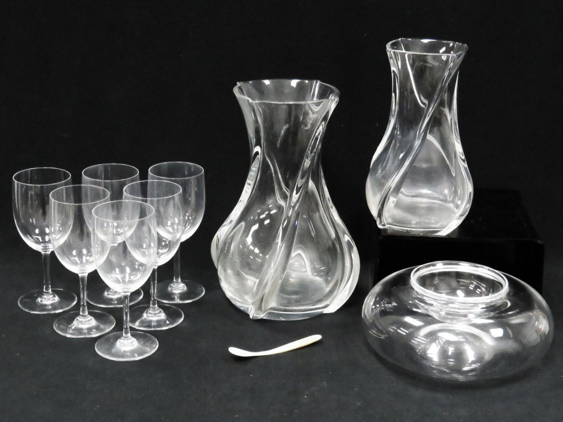 LOT ASSORTED BACCARAT CRYSTAL INCLUDING VASES