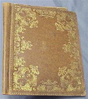 """CARTIER TOOLED LEATHER FOLIO, SIGNED. 16 X 13"""""""