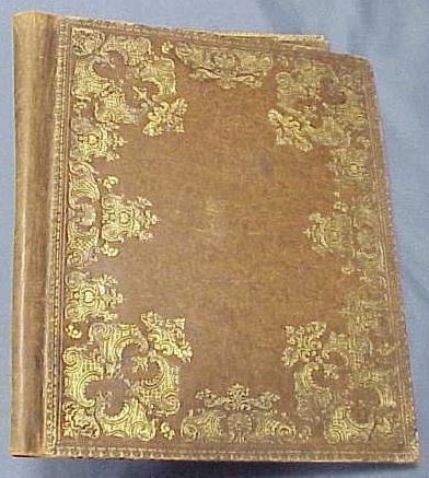 """1014: CARTIER TOOLED LEATHER FOLIO, SIGNED. 16 X 13"""""""