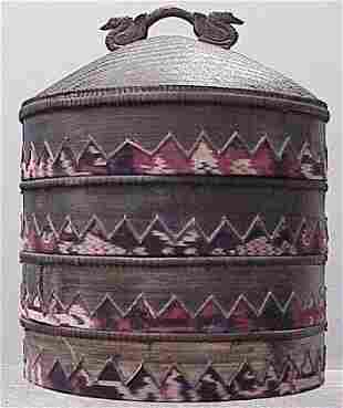 SOUTHEAST ASIAN STACKING BASKETS, 20TH CENTURY