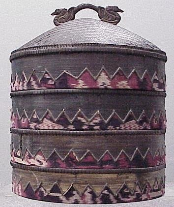 1015: SOUTHEAST ASIAN STACKING BASKETS, 20TH CENTURY