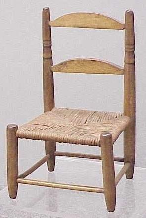 SALESMAN MODEL/DOLL'S RUSH-SEAT SIDE CHAIR