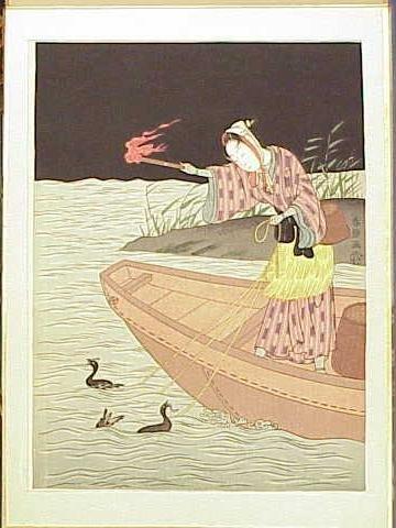 1018: ALBUM (10) JAPANESE WOODBLOCK PRINTS, 20THC