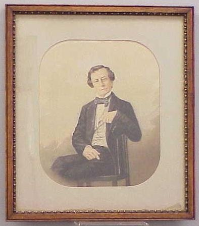 1024: WATERCOLOR, PORTRAIT OF A MAN WITH SPECTACLES