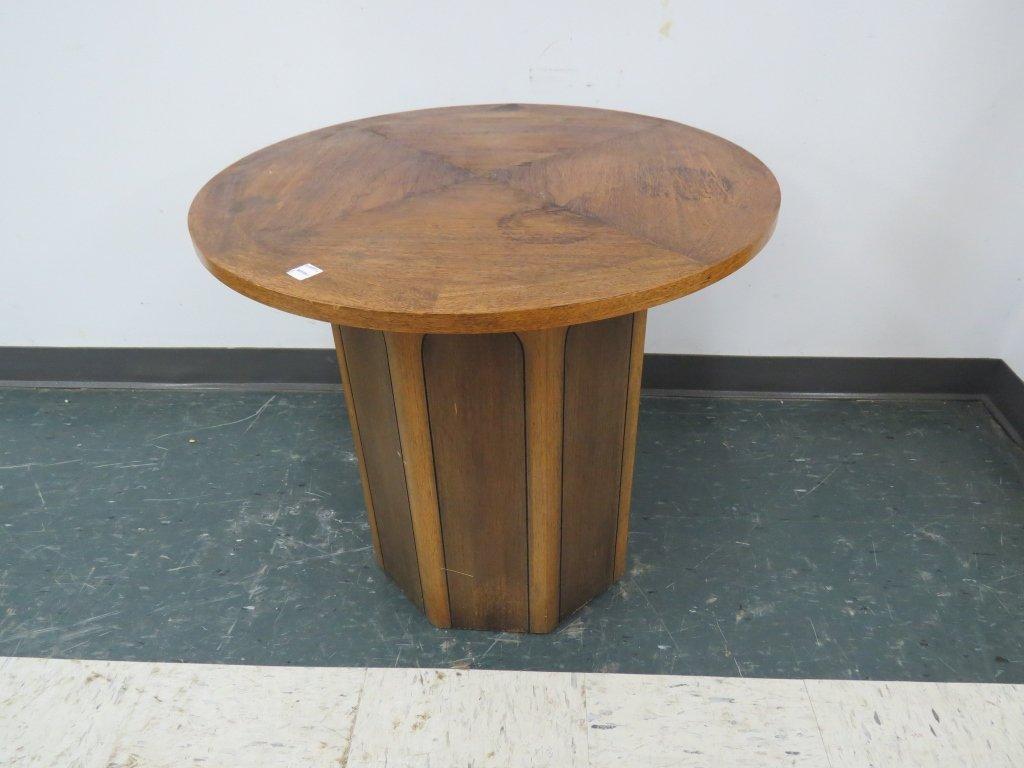 MID-CENTURY INLAID WALNUT SIDE TABLE