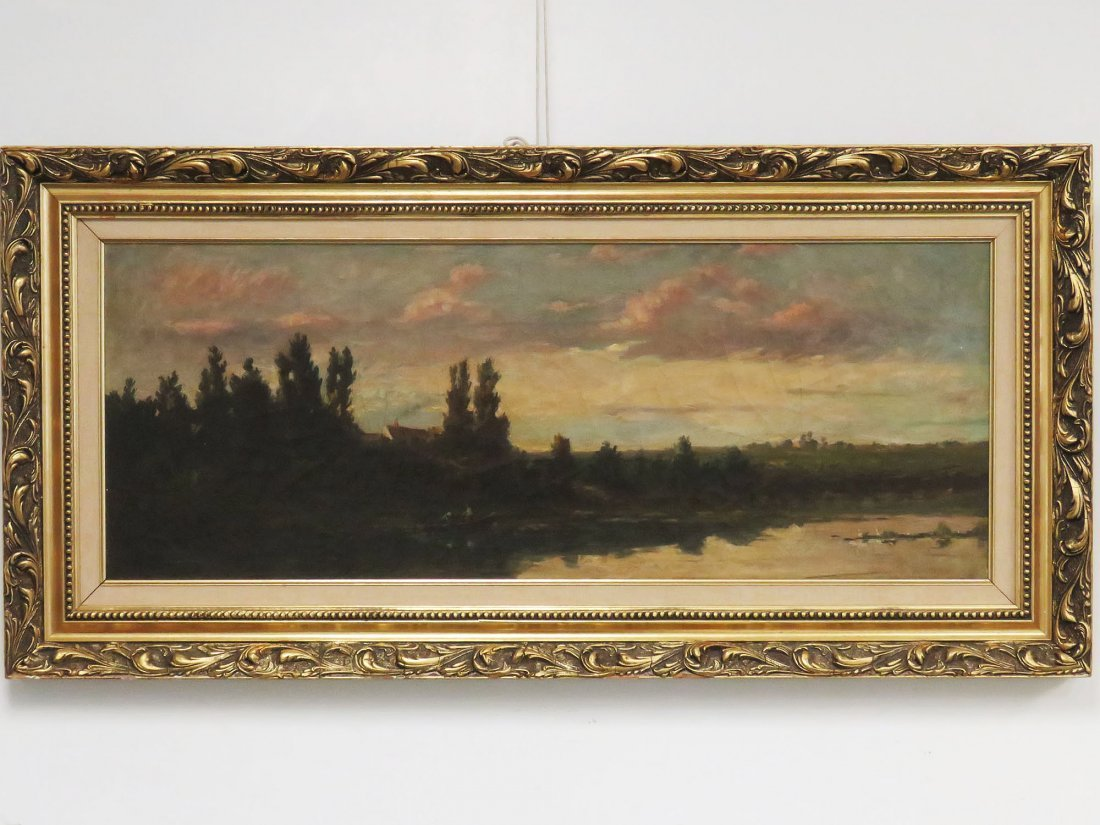 CHARLES DAUBIGNY (FR/AM 1817-1878), OIL ON CANVAS