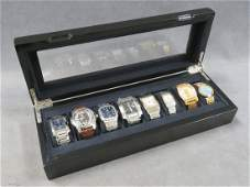 LOT INCLUDING ECCLISSI LACQUERED WRISTWATCH CASE