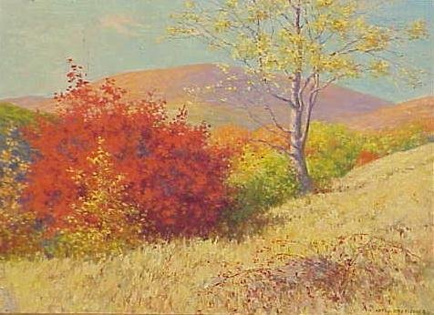"""1012: OIL ON CANVAS, """"THE BURNING BUSH"""" SIGN FISCHER"""
