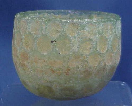 1013: SASANIAN CUT GLASS CUP, 7TH CENTURY BC