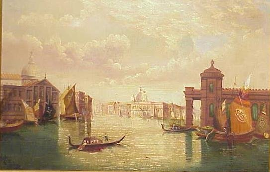 """1048: OIL ON CANVAS, """"THE GRAND CANAL, VENICE"""