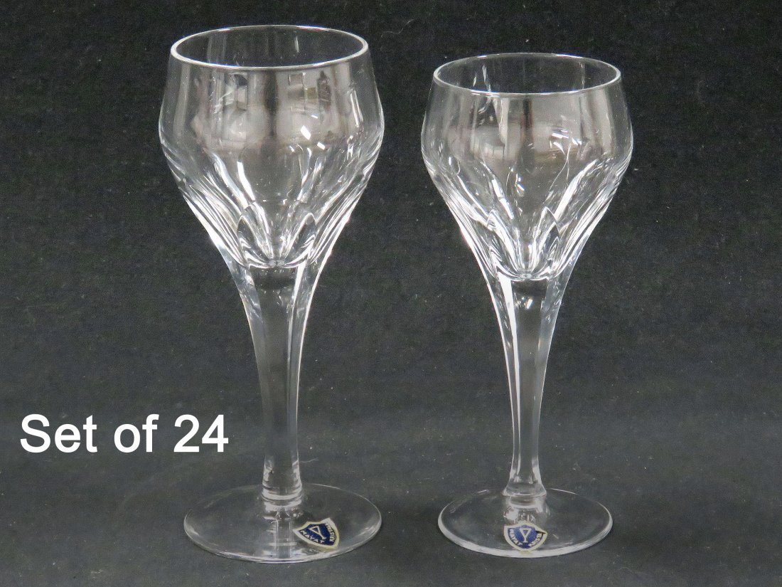 M. VARISCO (24) CRYSTAL WINES, SIGNED