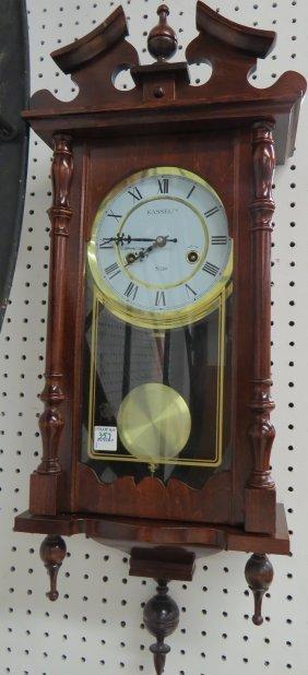 kassel mahogany regulator wall clock