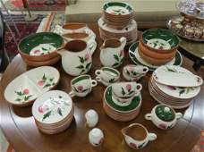"""STANGL POTTERY SERVICE FOR (8), """"THISTLE PATTERN"""""""