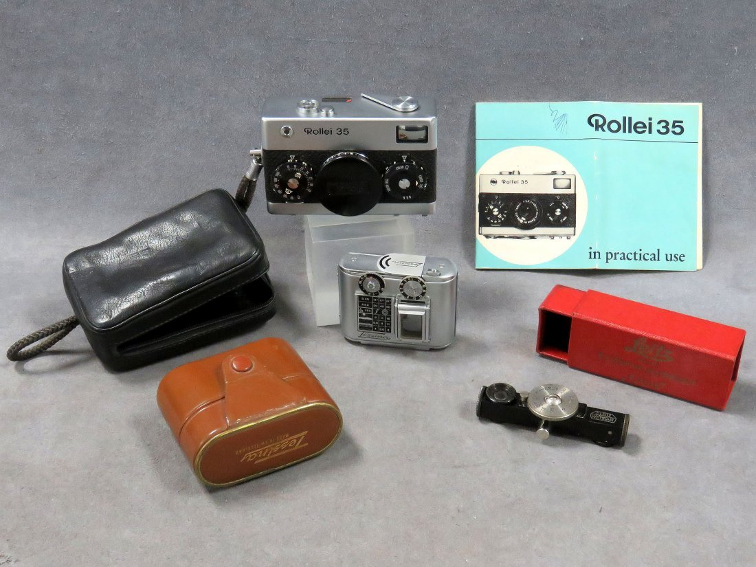 LOT INCLUDING VINTAGE ROLLEI 35 COMPACT CAMERA