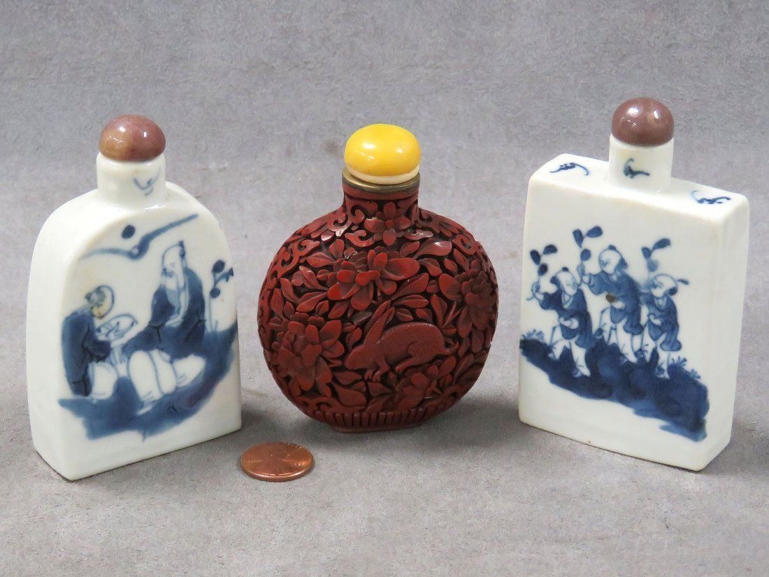 LOT (3) CHINESE SNUFF BOTTLES