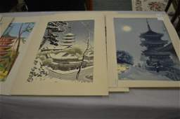 LOT 6 ASSORTED JAPANESE WOOD BLOCK PRINTS