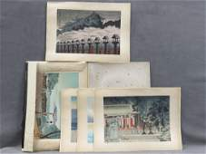 FOLIO 8 ASSORTED JAPANESE WOOD BLOCK PRINTS