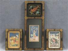 LOT 3 PERSIAN MINIATURE WORKS ON PAPERPARCHMENT