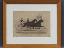 CURRIER  IVES LITHOGRAPH GOLDSMITH MAID AND LUCY