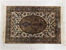 SEMIANTIQUE CENTRAL PERSIAN SILK BLEND RUG SIGNED