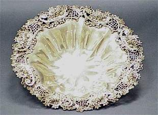 FINE STERLING FLORAL DECORATED BOWL