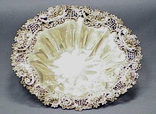 6: FINE STERLING FLORAL DECORATED BOWL