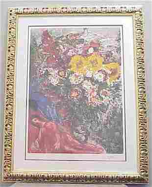 CHAGALL LITHOGRAPH, SIGNED AND NUMBERED