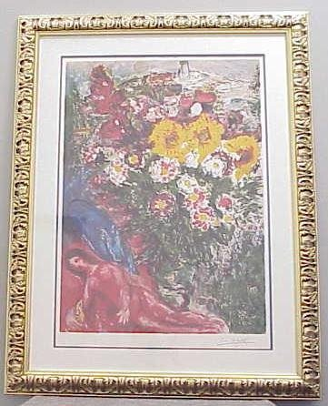 7: CHAGALL LITHOGRAPH, SIGNED AND NUMBERED