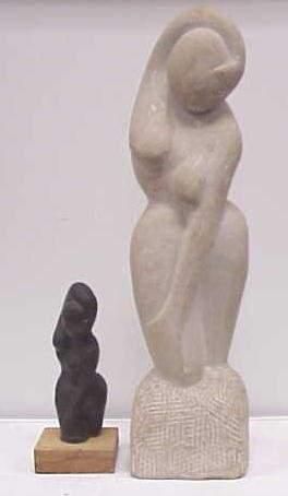 LOT (2) ART MODERN SCULPTURES G