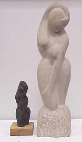 9: LOT (2) ART MODERN SCULPTURES G