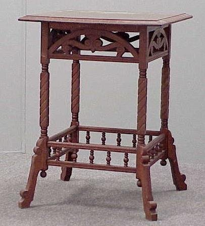 19: AESTHETIC CARVED OAK PARLOR STAND