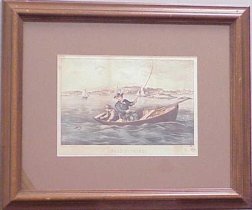 380: CURRIER & IVES HAND COLORED LITHOGRAPH