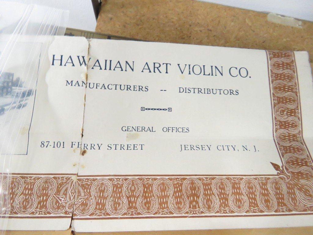 VINTAGE HAWAIIAN ART VIOLIN WITH ORIGINAL PAPERS. - 5