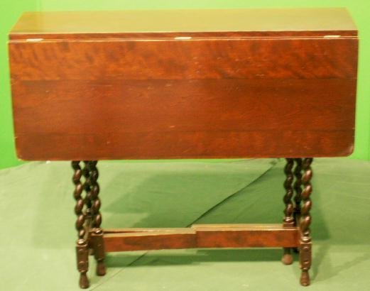 7: VICTORIAN CARVED WALNUT GATE-LEG TABLE
