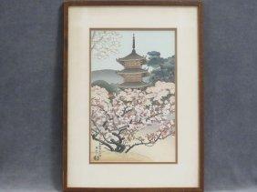 Benji Asada (japanese 1899-1984), Wood Block Print,