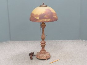 Italian Style Carved And Gilt Candlestick-form Lamp